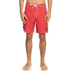 """Quiksilver Echo Beach Arch 18"""" Boardshorts Men, rojo/blanco"""
